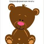 Медвежонок печать